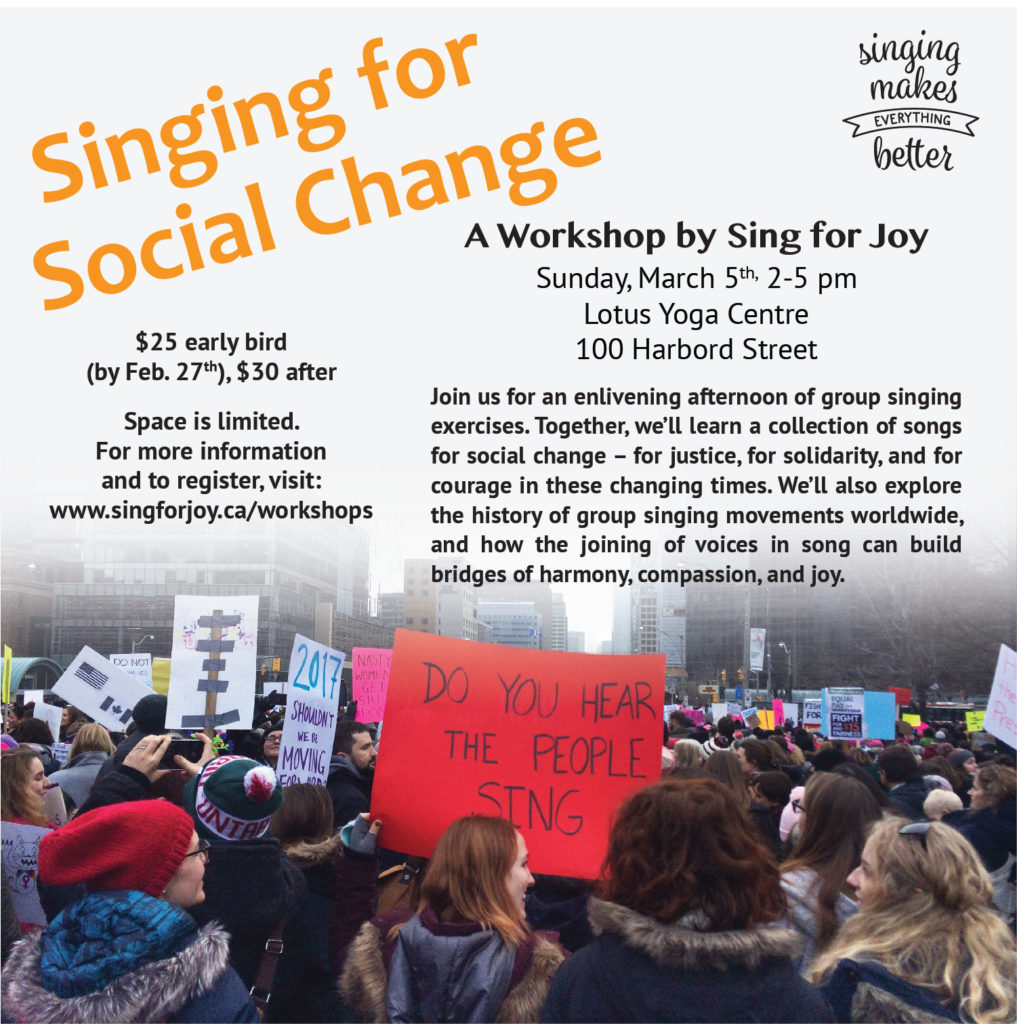 Past Events - Sing for Joy