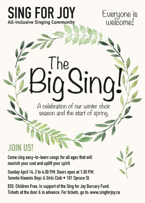 The Big Sing - Sing for Joy